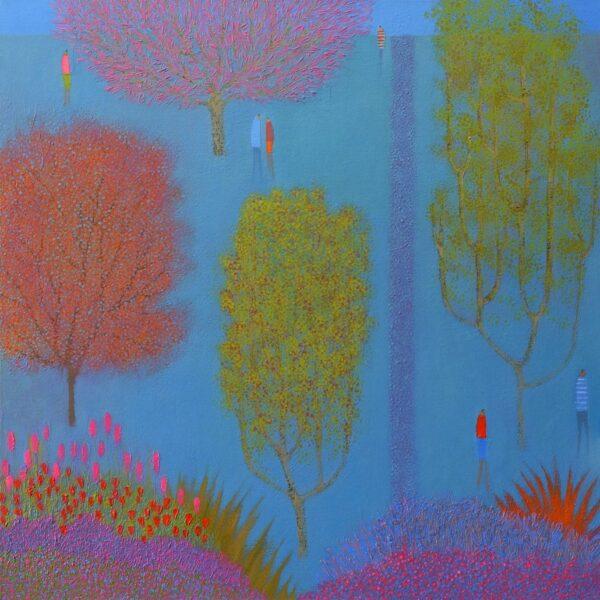 Talking under a Pink Tree by Emma Brownjohn