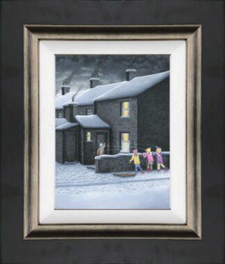 a parting shot canvas framed by leigh lambert