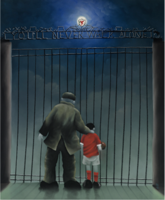 The Shankly Gates by Mackenzie Thorpe