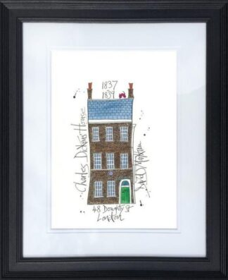 Charles Dicken's House By Dave Markham Framed