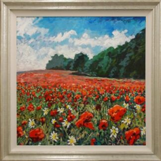corner of the Poppyfield by Timmy Mallett Framed