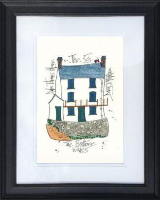 Dylan Thomas House by Dave Markham framed