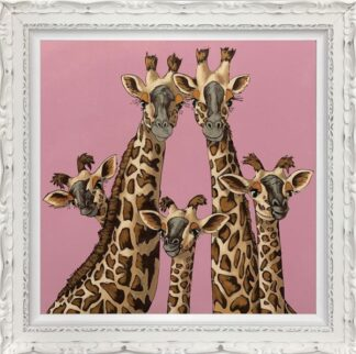 High Five Rangwali Pink Framed by Amy Louise