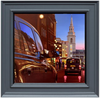 London Dusk Reflection Canvas Framed Neil Dawson