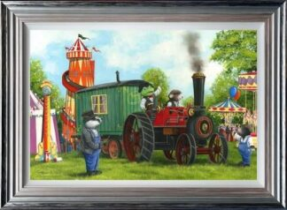 Mr Toad and Moley's Steam Adventures by Dale Bowen Framed