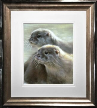 Otters by Vivien Walters Framed