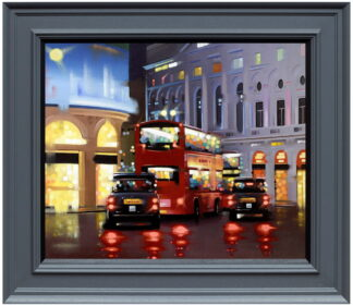 Piccadilly Night Adventure Canvas Framed Neil Dawson