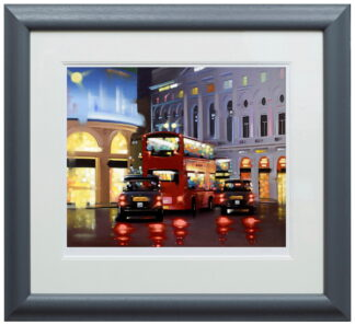 Piccadilly Night Adventure paper Framed Neil Dawson