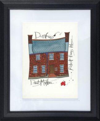 Robert Burns House by Dave Markham framed
