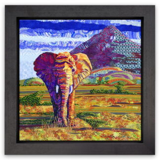 Samburu Elephant by katy rundle framed
