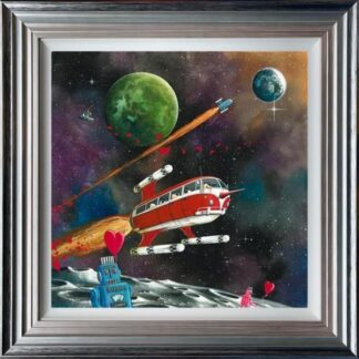 Star Sheep Enterprise by Dale Bowen Framed