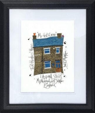 Ted Hughes' House by Dave Markham Framed