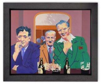 The Joke by Frank Harwood framed