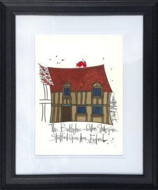William Shakespeares House by Dave Markham Framed