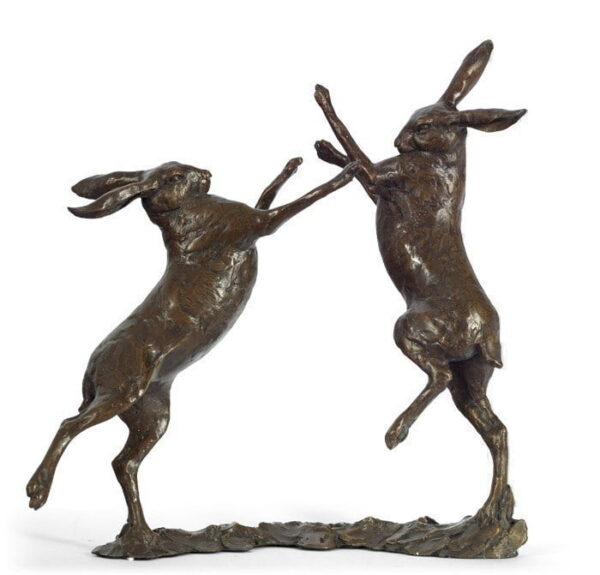 duel boxing hares