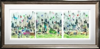 easy come easy go triptych sue howells framed