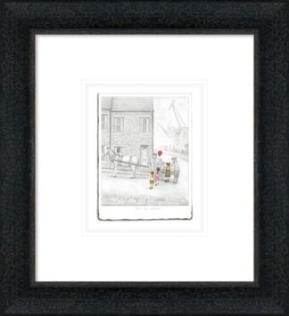 The Last Balloon Sketch by Leigh Lambert Framed