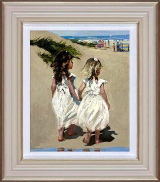 Beach Babies by Daines Framed