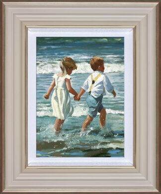 Chasing the Waves by Daines Framed